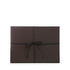 Istyle - Set of four brown mock croc placemats