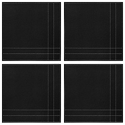 Istyle - Pack of 4 black and grey reversible placemats