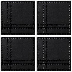 Istyle - Set of four black and grey reversible coasters
