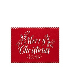 At home with Ashley Thomas - Set of two 'Merry Christmas' placemats