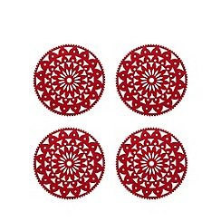 Debenhams - Set of four Christmas felt placemats