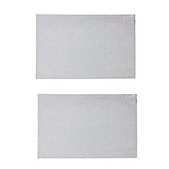 Debenhams - Set of two silver sparkling placemats