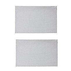 Debenhams - Set of two silver sparkling placemats