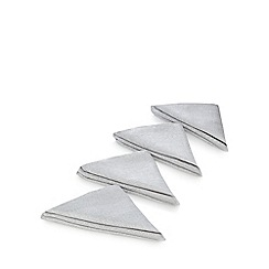 Debenhams - Set of four silver metallic napkins