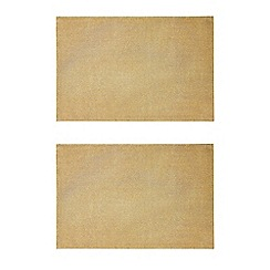 Debenhams - Set of two gold sparkling placemats