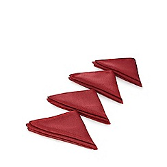 Debenhams - Set of four red metallic napkins