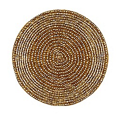 Debenhams - Gold beaded place mat