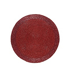Debenhams - Red beaded place mat