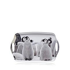 Debenhams - White penguin print tray