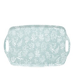 Home Collection - Light green leaf print tray