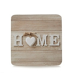 Home Collection - Pack of 6 light brown home print coasters