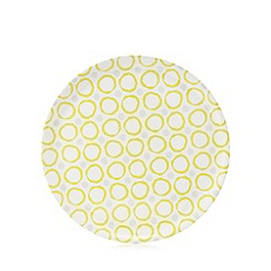 Home Collection Basics - Yellow circle print serving tray