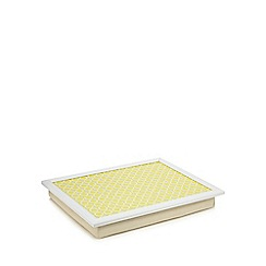 Creative Tops - Yellow circular print lap tray