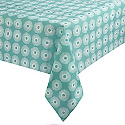 Home Collection Basics - Light turquoise burst print tablecloth