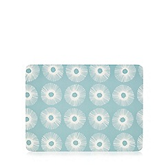 Home Collection Basics - Light turquoise set of 6 sun burst print placemat