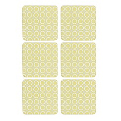 Creative Tops - Set of six lime spotted coasters