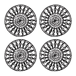 RJR.John Rocha - Set of four black wired coasters