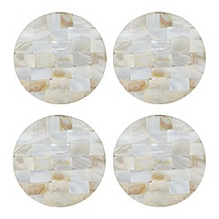 Star by Julien Macdonald - Set of four mother of pearl coasters