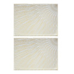 Star by Julien Macdonald - Set of two glass burst place mats