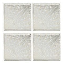 Star by Julien Macdonald - Set of four glass burst coasters