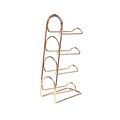 Hahn - Pisa copper 4 bottle wine rack
