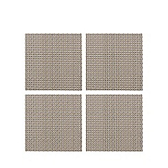 Home Collection - Set of four beige checked coasters