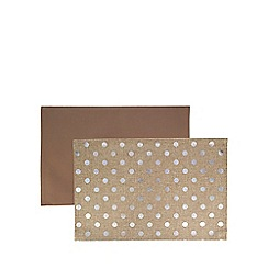 Home Collection - Set of two reversible natural spotted placemats