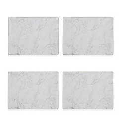 Istyle - Pack of 4 grey marble effect placemats
