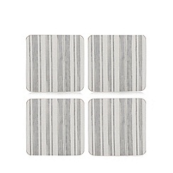 Creative Tops - Set of four grey striped coasters