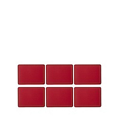 Home Collection - Set of six red border print placemats