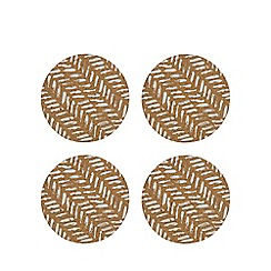 Home Collection - Set of four brown 'Stockholm' coasters