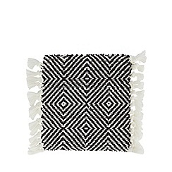 Home Collection - Set of four black and white geometric woven coasters