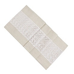 RJR.John Rocha - Natural and white lace table runner