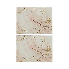 Home Collection - Set of two pink marble placemats