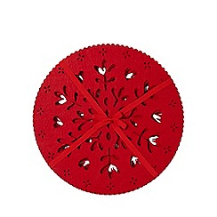 Home Collection - Pack of 4 red laser cut snowflake placemats