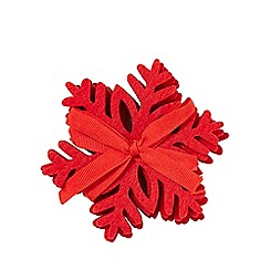 Home Collection - Pack of 4 red laser cut snowflake coasters