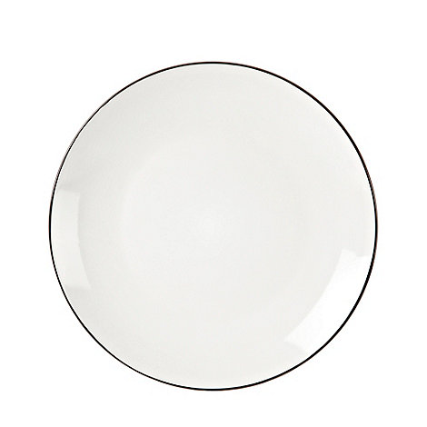 Home Collection Basics - Black 'Two Tone' dinner plate