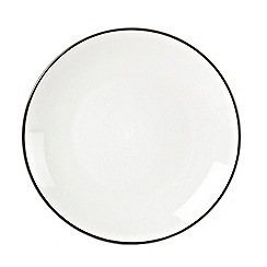 Home Collection Basics - Black 'Two Tone' dessert plate