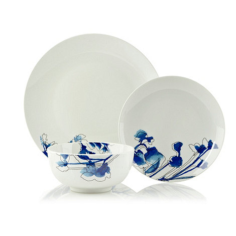 Sabichi - Blue +Freesia+ floral 12 piece crockery set