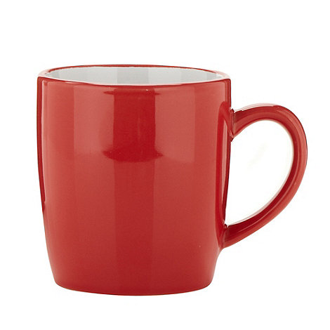 Home Collection Basics - Red stoneware two tone mug