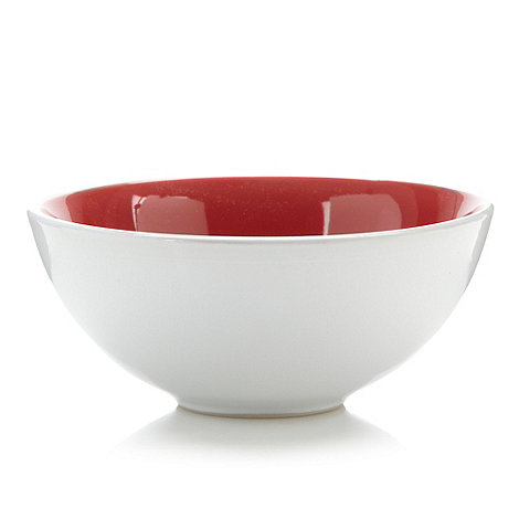 Home Collection Basics - Red stoneware two tone cereal bowl
