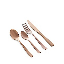 Home Collection - Pack of 16 copper 'Radiance' cutlery set