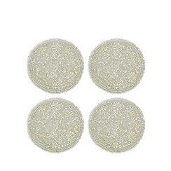 Star by Julien Macdonald - Pack of 4 ivory beaded coasters