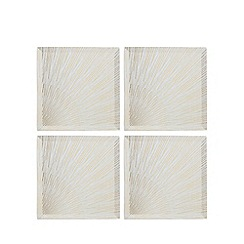 Star by Julien Macdonald - Set of four silver burst glass coasters
