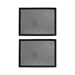 Star by Julien Macdonald - Pack of 2 silver glitter placemats