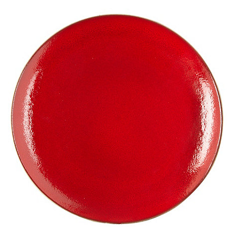 RJR.John Rocha - Red glazed +Pico+ dinner plate