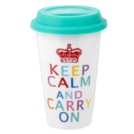Debenhams Keep Calm Travel Mug