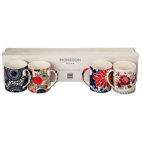 Denby - Gift box of four floral patterned mugs