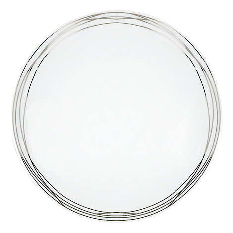 RJR.John Rocha - Platinum etched dinner plate