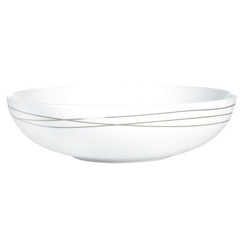 RJR.John Rocha - Platinum etched pasta bowl